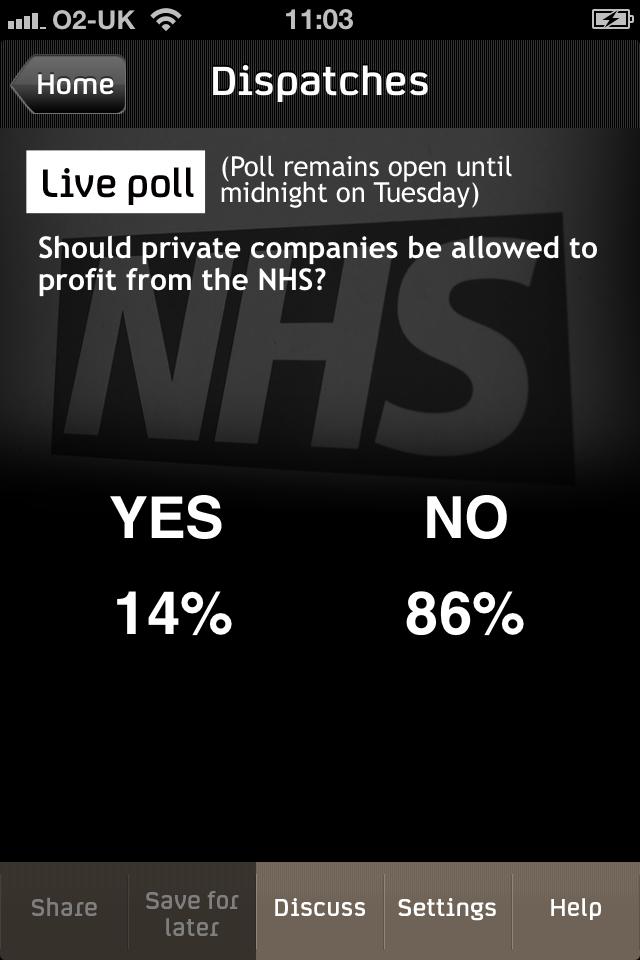 Voting killer TV app?
